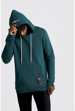 Teal Over The Head Hoodie With BHM19 Tab