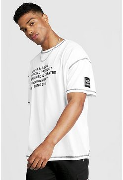 Mens White New Season MAN Oversized T-Shirt