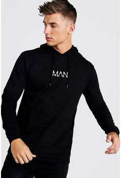Black Original MAN Muscle Fit OTH Hoodie