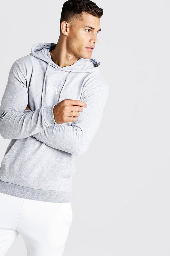 Grey Original MAN Muscle Fit OTH Hoodie