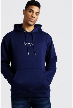 Mens Navy Original MAN OTH Fleece Hoodie