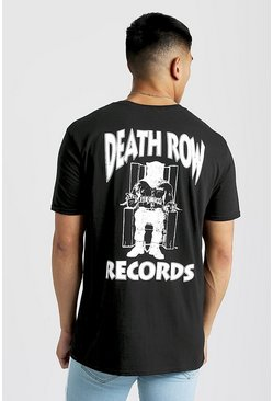 T-shirt oversize Death Row Records, Noir, Homme