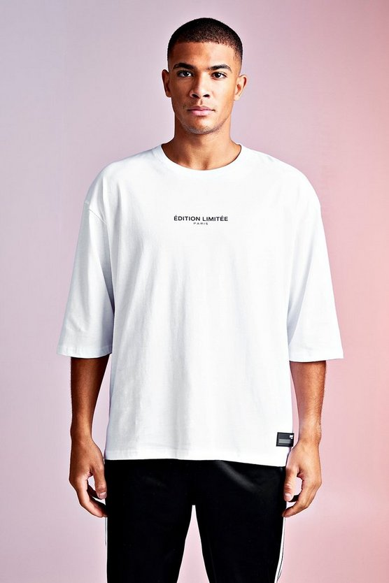 Mens White MAN Design Edition Limited Tee