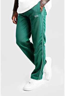 Mens Green Original MAN Straight Leg Smart Waffle Jogger