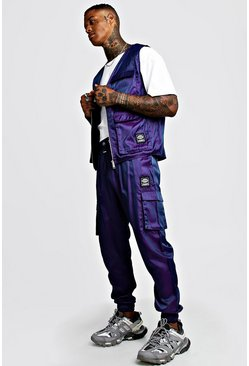 Purple Iridescent MAN Utility Vest & Jogger