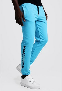 Jogging fluo imprimé bouffant MAN Officiel, Bright blue, Homme