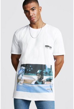T-shirt oversize Ice Cube Rolling officiel, Blanc