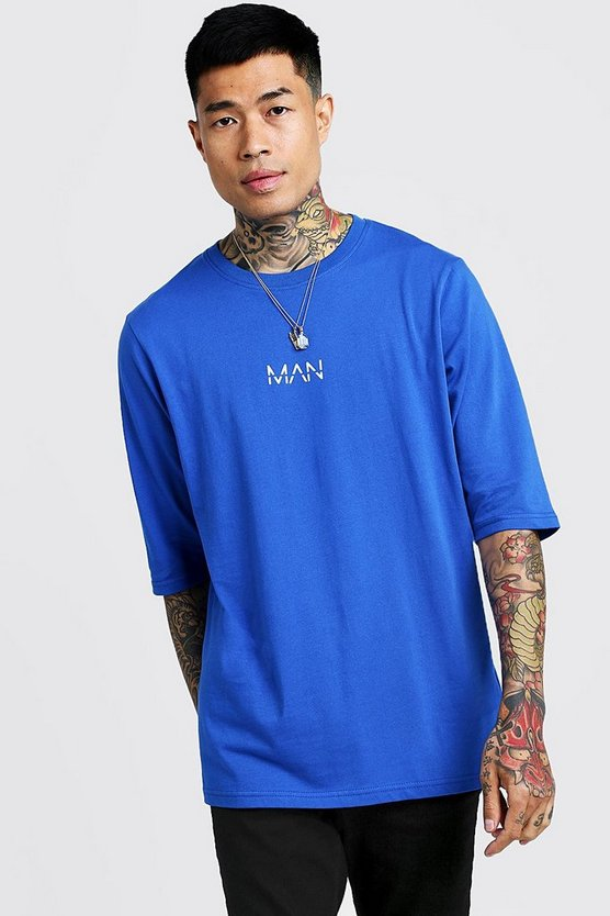 Mens Cobalt Original MAN 3/4 Sleeve T-Shirt