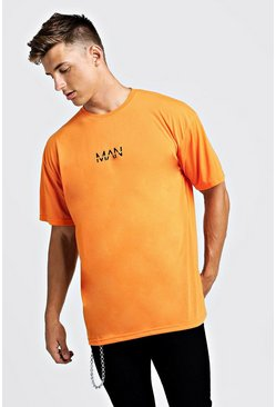 T-shirt oversize imprimé MAN Original, Orange néon, Homme