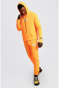 Survêtement à capuche fluo MAN Collection, Orange néon, Homme
