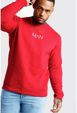 Sweat imprimé Original MAN, Rouge, Homme