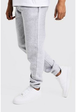 Mens Grey Basic Loose Fit Jogger