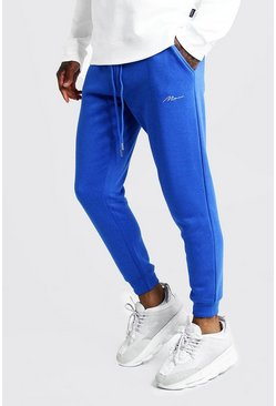 Mens Cobalt MAN Signature Skinny Fit Jogger