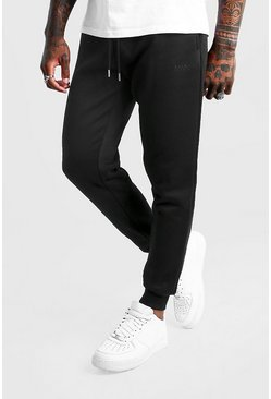 Jogging coupe slim MAN Dash, Noir