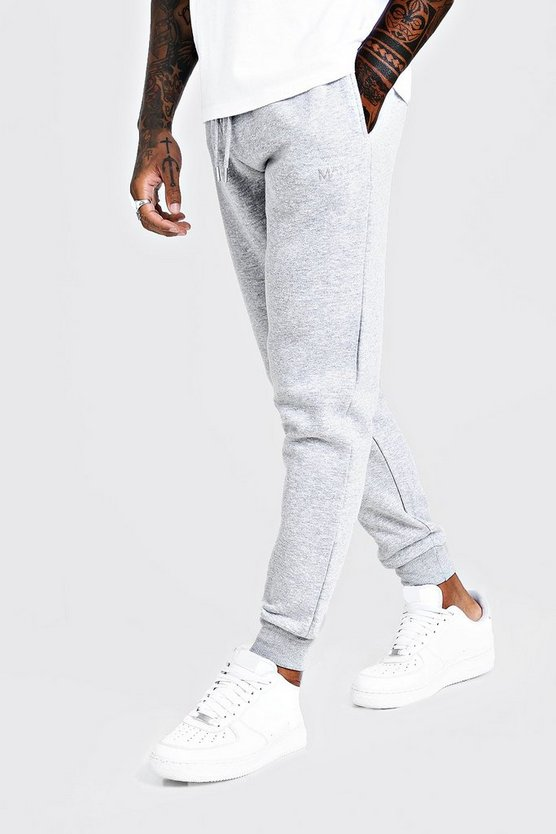 Mens Grey MAN Dash Slim Fit Joggers