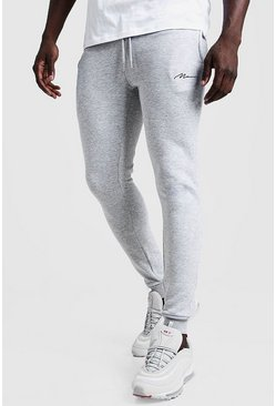 Grey MAN Signature Super Skinny Joggers
