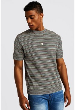 Multi Coloured Knitted T-Shirt, HOMMES