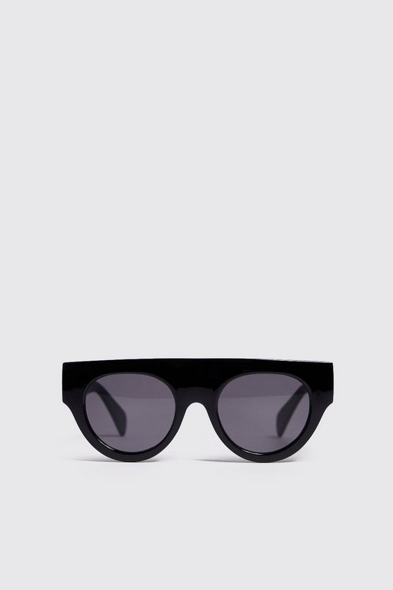Mens Black Oversized Acetate Sunglasses