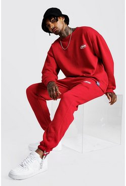 Sweat coupe ample MAN et jogging coupe slim, Rouge, Homme