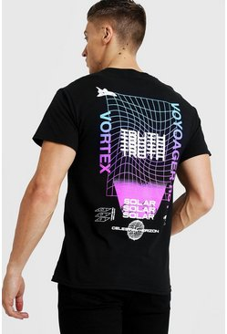 Mens Black Front And Back Truth Print T-Shirt