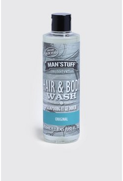Mens Clear MAN Stuff Hair & Body Wash