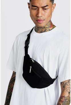 Black Nylon Pocket Bumbag
