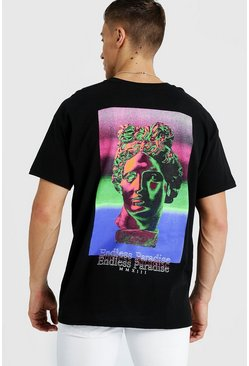 Mens Black Oversized Endless Paradise T-Shirt