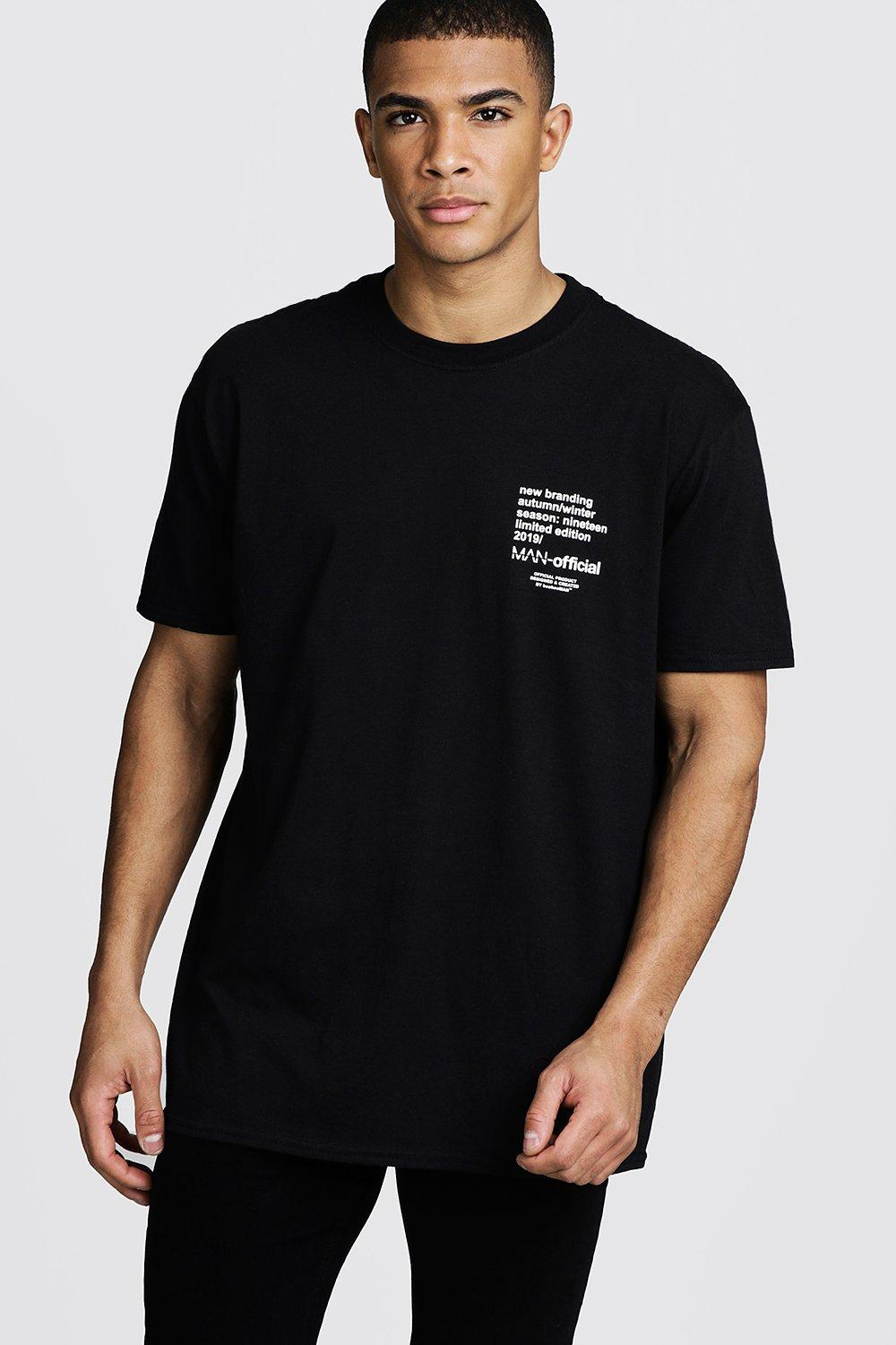 Oversized MAN Limited Edition Printed T-Shirt   BoohooMAN