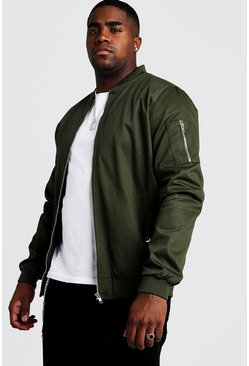 Khaki Big & Tall Cotton MA1 Bomber