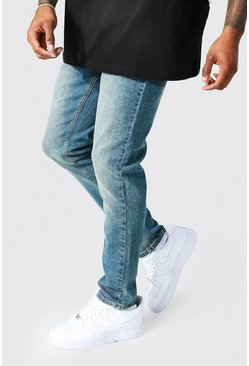 Mens Vintage wash Skinny Fit Denim Jeans