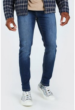 Skinny Fit Denim Jeans, Mittelblau