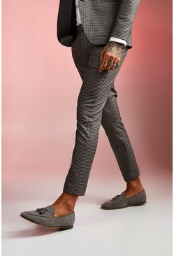 Brown Heritage Gingham Skinny Fit Suit Pants