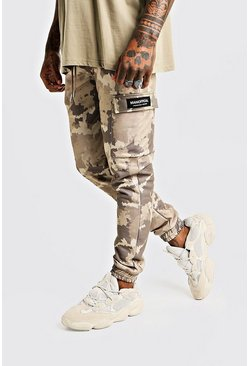 Skinny Camo Cargo Joggers With MAN Tab