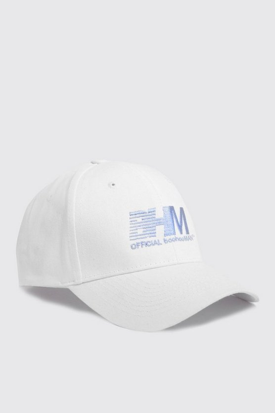 Mens White BHM Embroidered Cap