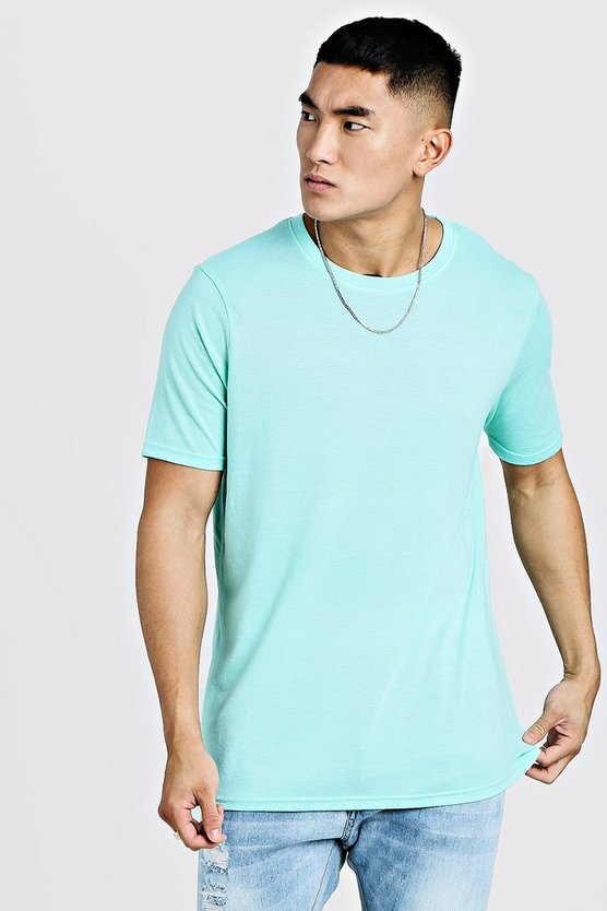 Mens Mint Oversized Crew Neck T-Shirt