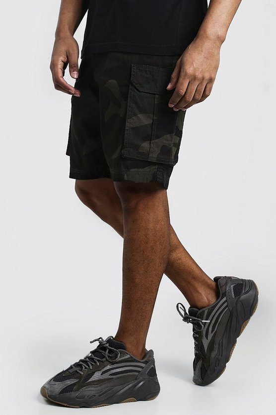 Mens Camo Cargo Cotton Shorts