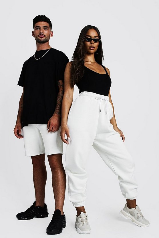 Womens White Hers Bodysuit & Jogger Set