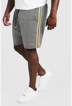 Mens Black Big & Tall Check MAN Signature Short