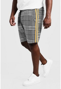 Mens Grey Big & Tall MAN Signature Check Short