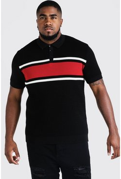 Polo en maille colorblock Big and Tall, Rouge, Homme