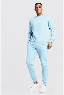 Mens Light blue MAN X Abode Sweater Tracksuit
