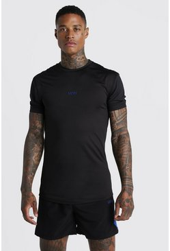 Mens Cobalt MAN Active Muscle Fit Raglan T-Shirt