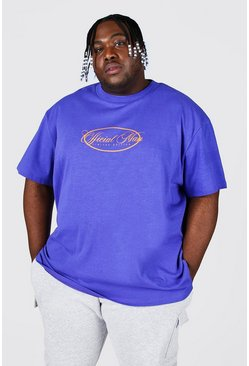 Purple Plus Loose Fit  Extended Neck T-shirt