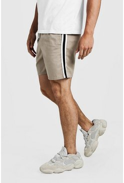 Mens Stone Drawstring Chino Short With Side Tape