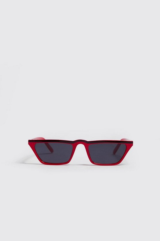 Mens Red Matrix Micro Sunglasses