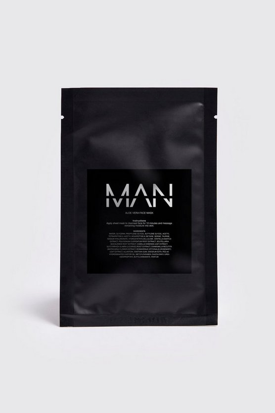 Mens Clear MAN Aloe Vera Sheet Face Mask