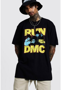 Mens Black Run DMC Oversized T-Shirt