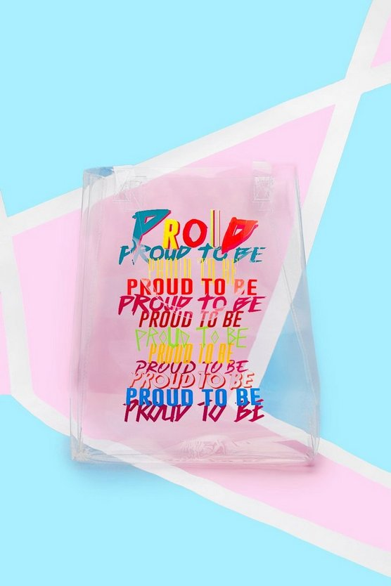 Mens Pride Clear Perspex Tote Bag With Print