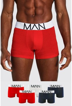 Multi 5 Pack Mix Colour MAN Signature Trunks