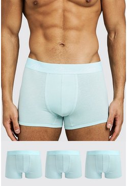 Mens Light blue 3 Pack MAN Signature Trunks